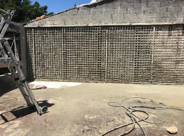 Réhabilitation d'une villa avec consolidation du mur mitoyen
