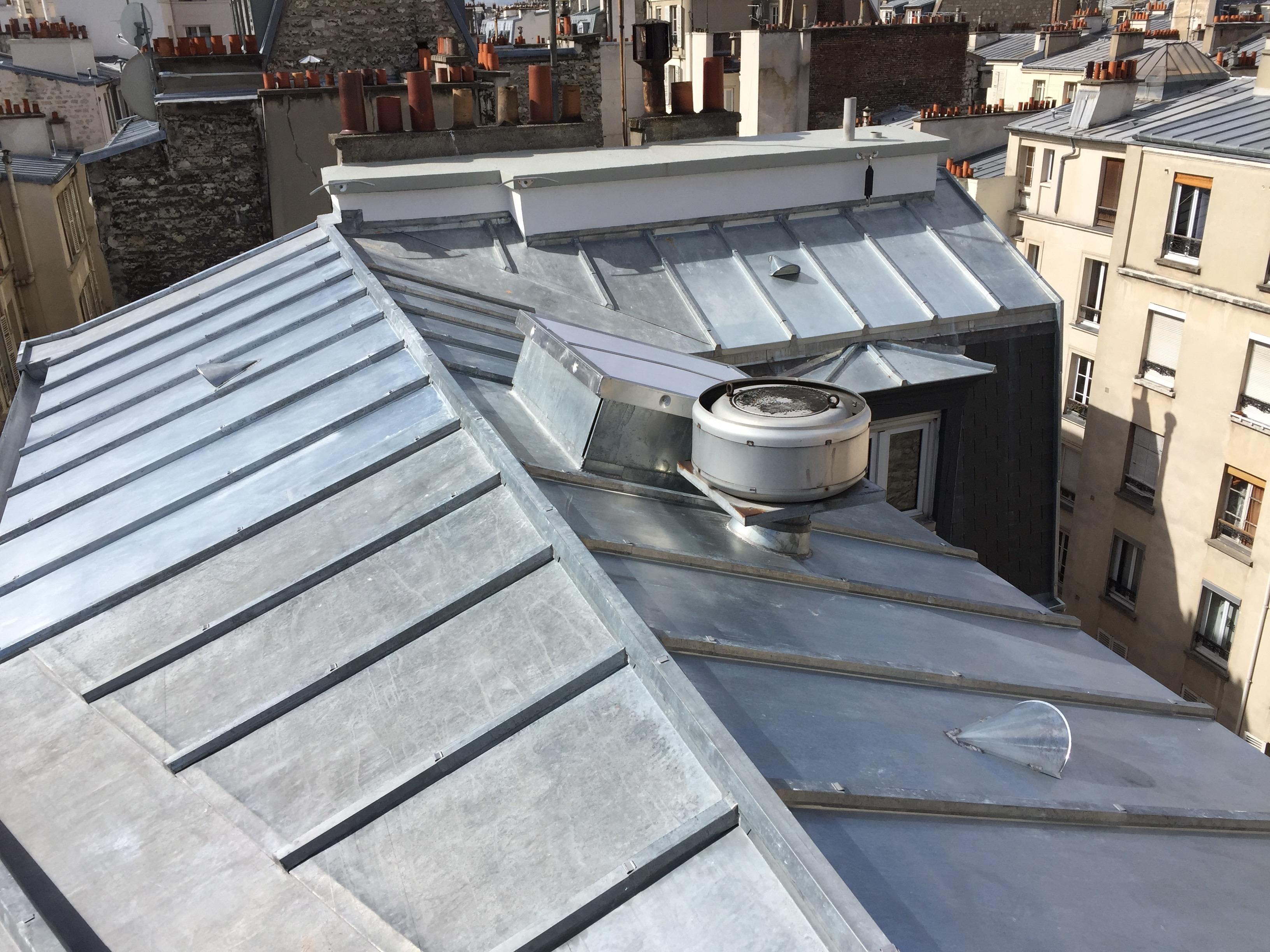 Réfection des toitures ardoises et Zinc